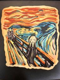 The Scream pancake art