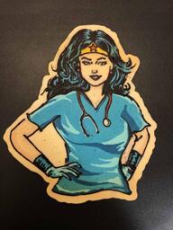 Wonder Woman Nurse pancake art