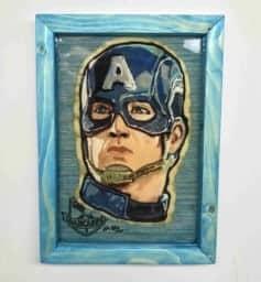 Captain America Preserved Pancake Art