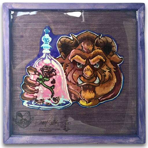 Beast (Beauty and The Beast) Preserved Pancake art