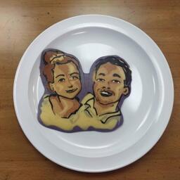 Beautiful Couple Pancake Art