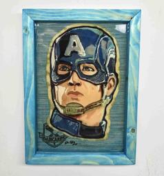 Captain America Preserved Pancake Art