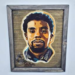 Chadwick Boseman Preserved Pancake Art