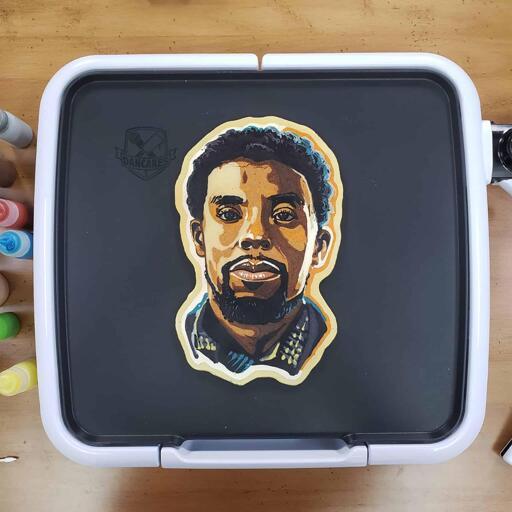 Chadwick Boseman Tribute Pancake Art