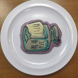 Fax Machine Pancake Art