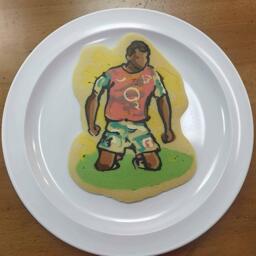 Footballer Thierry Henry Pancake Art
