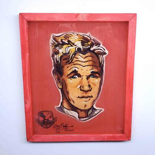 Gordon Ramsay Preserved Pancake art