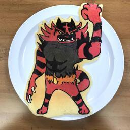 Pancake Art of Incineroar The Fire/Dark Pokemon