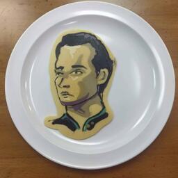 Lt. Commander Data Pancake Art