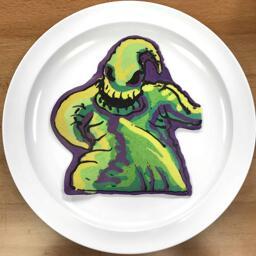 Pancake Art of Oogie Boogie from Nightmare Before Christmas