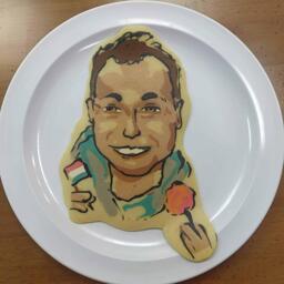 Profile Pic Pancake Art