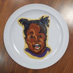 Pancake art of Courtney's Lovely Daughter