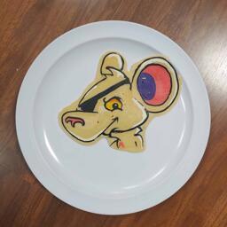 Pancake art of Dangermouse