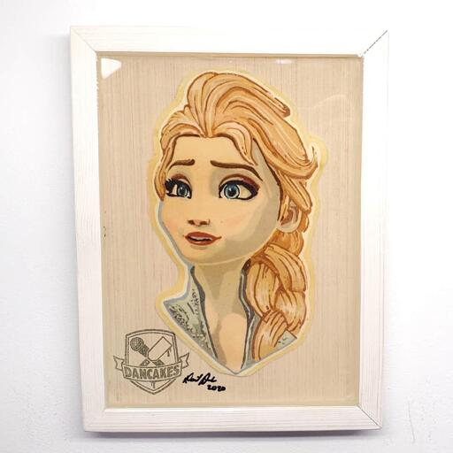 Elsa (Frozen) Preserved Pancake Art