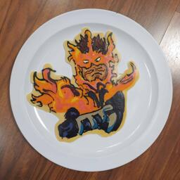 Pancake art of Endeavour from My Hero Academia