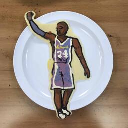 Farewell Kobe Bryant Pancake Art