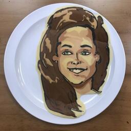 Pancake art of Kristen Stewart