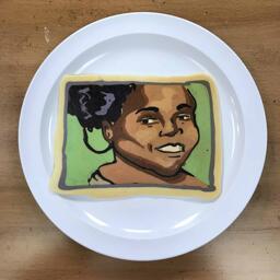 Pancake Art Portrait of Rayhab