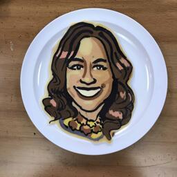 Pancake Art Portrait of Rebecca