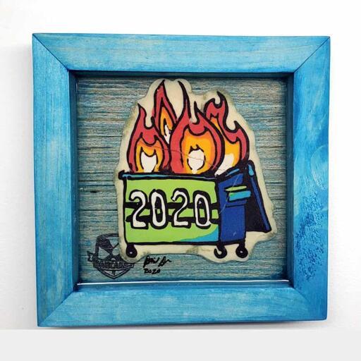 2020 Dumpster Fire Pancake Art