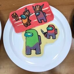 Among Us Betrayal Pancake Art