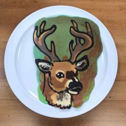 Buck Pancake Art