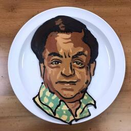 Deep Roy Pancake Art
