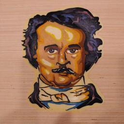 Edgar Allen Poe Pancake Art