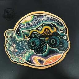 Galaxy Monster Truck Pancake Art