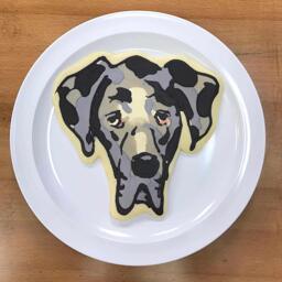 Great Dane Pancake Art