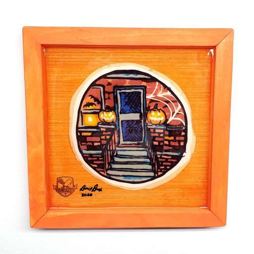 Halloween Doorstep Preserved Pancake Art