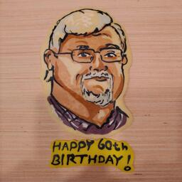 Happy Birthday Pancake Art