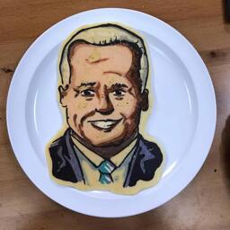 Joe Biden Pancake Art