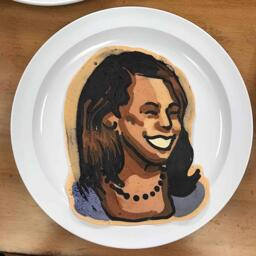 Kamala Harris Pancake Art