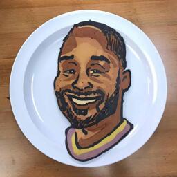 Kobe Bryant Pancake Art