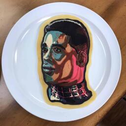 Miles Morales Pancake Art