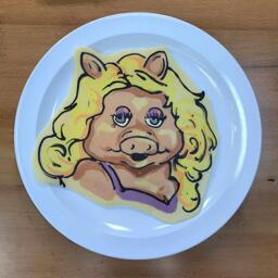 Miss Piggy Pancake Art