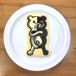 Monokuma Pancake Art