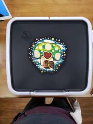 Mushroom House Pancake Art