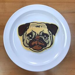 Pug Pancake Art