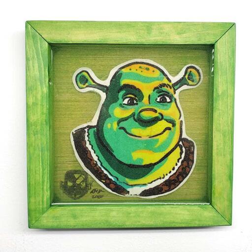 Shrek Pancake Art
