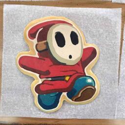 Shy Guy Pancake Art