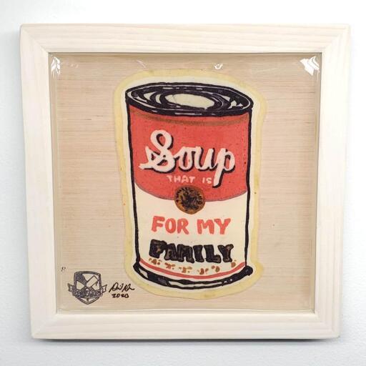 Soup For My Family Pancake Art