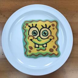 Spongebob Pancake Art