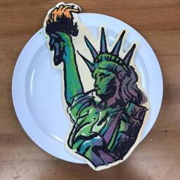 Statue of Liberty Pancake Art