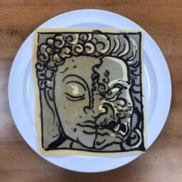 Statue Pancake Art