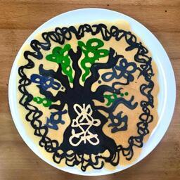 Tree of Life Pancake Art