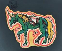 Zombie Unicorn Pancake Art