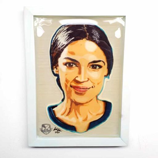 Alexandria Ocasio-Cortez (AOC) Pancake Art