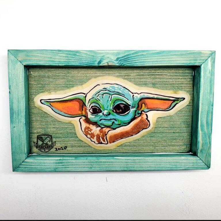 Baby Yoda (Grogu) Pancake Art